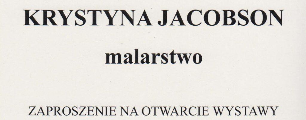 Krystyna Jacobson